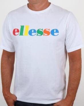 Ellesse Spectrum Logo T Shirt White