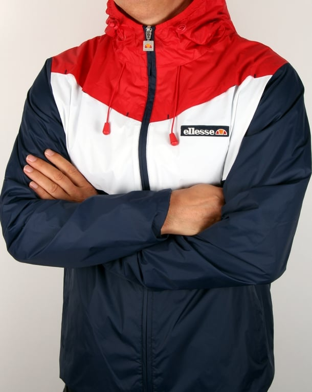 Ellesse Split Colours Windrunner Navy/red