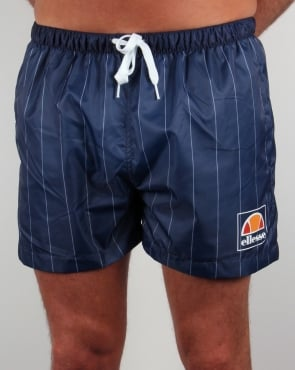Ellesse Striped Footy Swim Shorts Navy