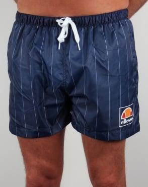 Ellesse Striped Footy Swim Shorts Navy