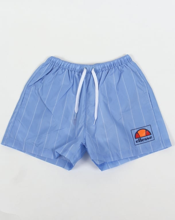 Ellesse Striped Footy Swim Shorts Sky