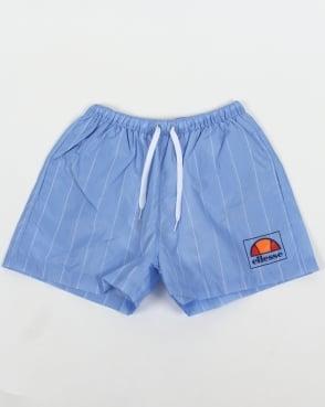 Ellesse Striped Footy Swim Shorts Sky