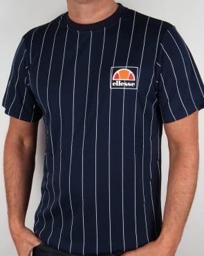 Ellesse Striped T-shirt Navy