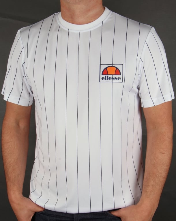 Ellesse Striped T-shirt White