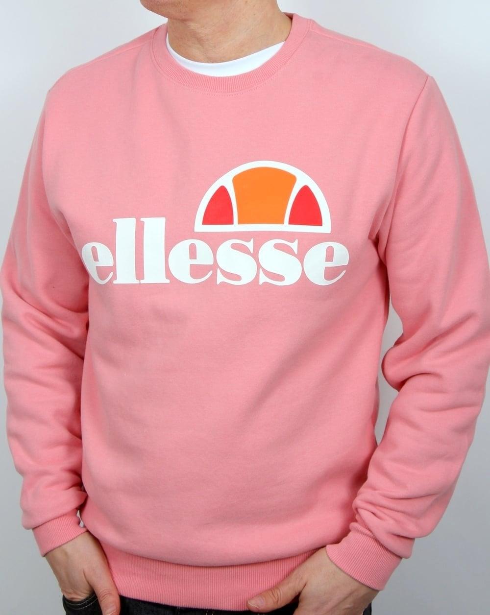 f54e2369 Ellesse Succiso Sweatshirt Candy Pink,Men's,Jumper,Cotton,Top,Knit