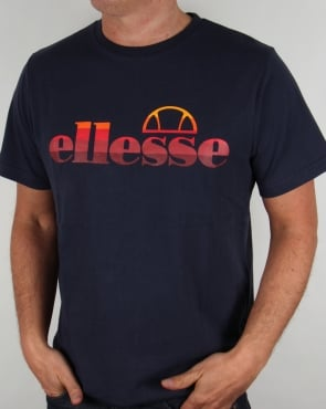 Ellesse Sunset Logo T-shirt Navy
