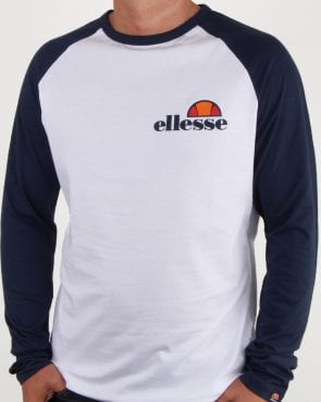 Ellesse Thero Long Sleeve T Shirt White/navy