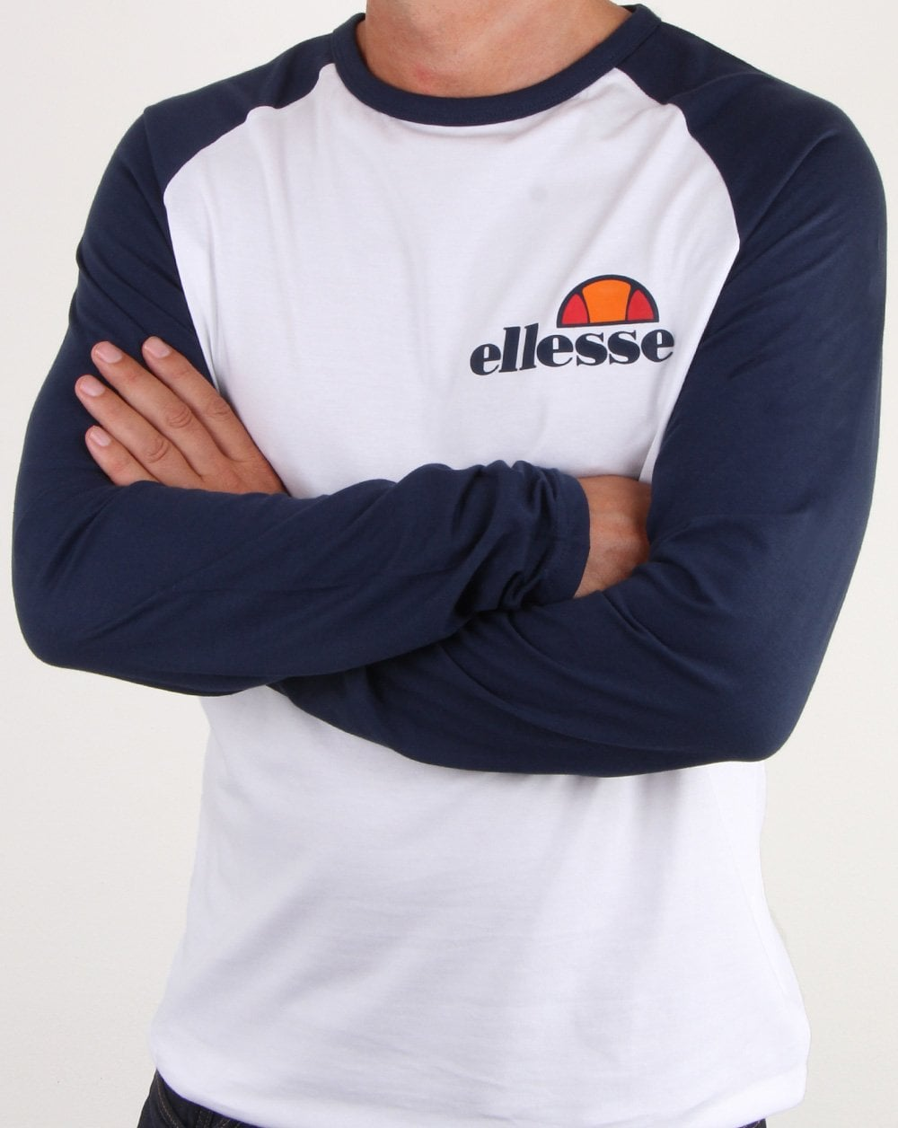ff54876059 Ellesse Thero Long Sleeve T Shirt White/navy