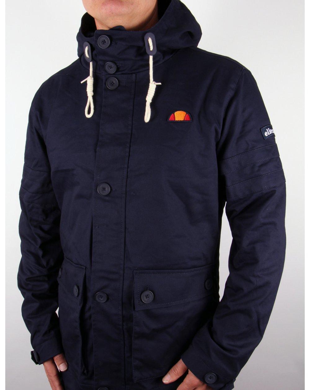 ellesse tosan hooded jacket navy heritage jacket blue. Black Bedroom Furniture Sets. Home Design Ideas