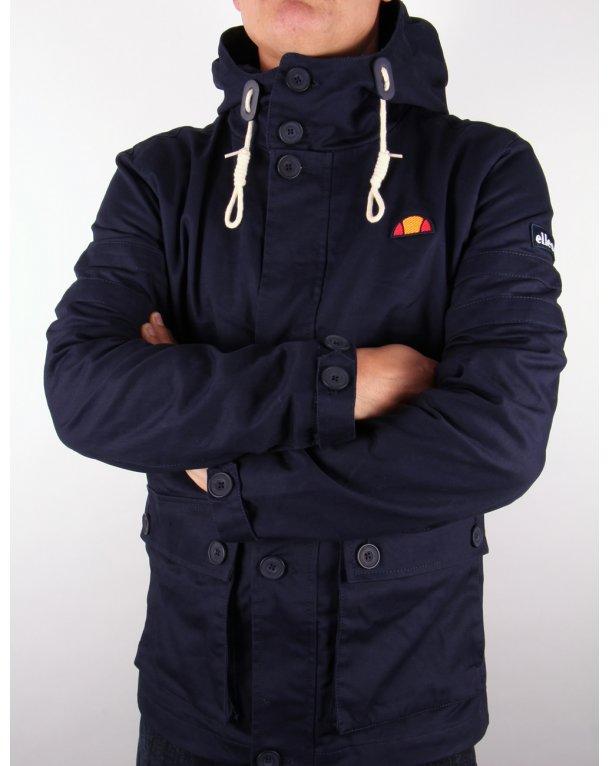 Ellesse Tosan Hooded Jacket Navy