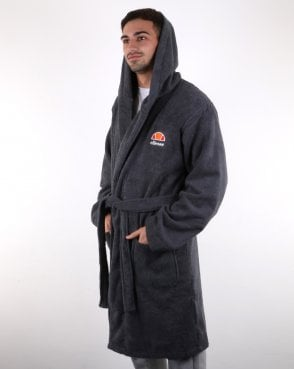 Ellesse Towelling Dressing Gown Grey