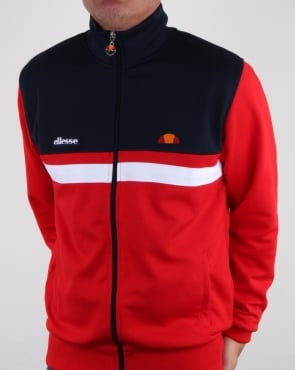 Ellesse Trasimeno II Track Top Red/Navy