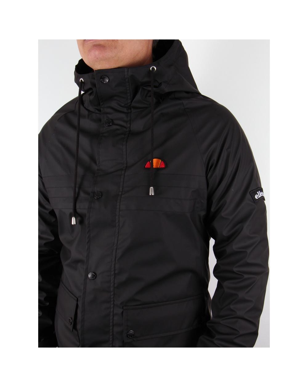ellesse trevisina jacket black heritage hooded jacket. Black Bedroom Furniture Sets. Home Design Ideas