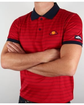 Ellesse Triesti Polo Shirt Red