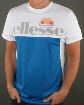 Ellesse Triton T Shirt Imperial Blue/White