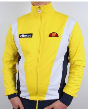 Ellesse Vilas Pro Track Top Yellow/Navy/White