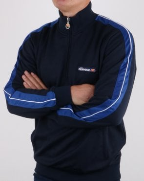 Ellesse Vinio Quarter Zip Track Top Navy