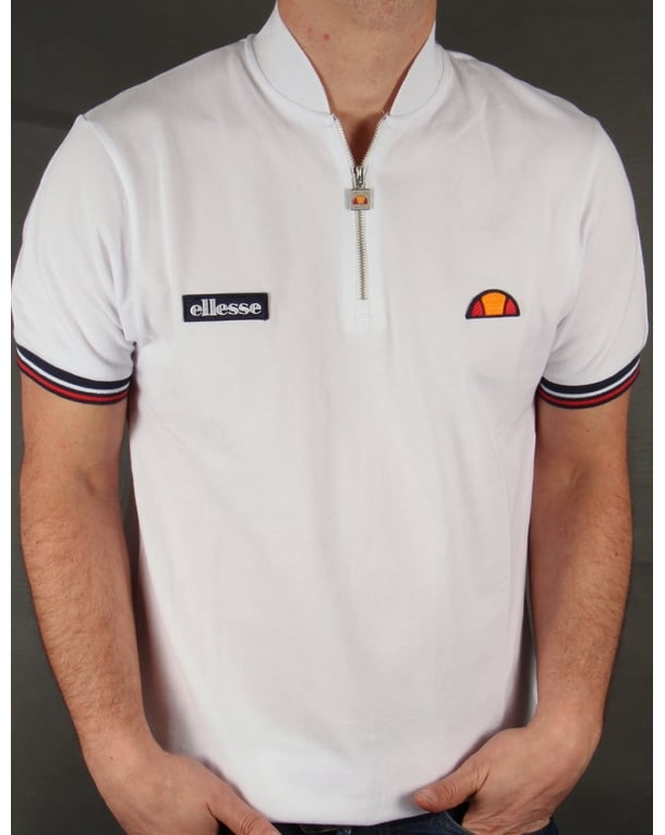 Ellesse Vipiteno Zipped T-shirt White