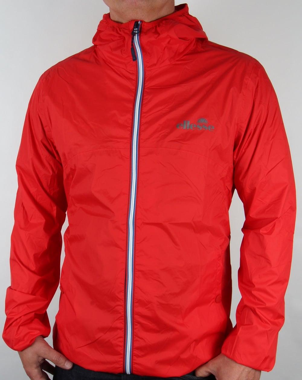 ellesse xaviero jacket red coat hooded performace mens. Black Bedroom Furniture Sets. Home Design Ideas