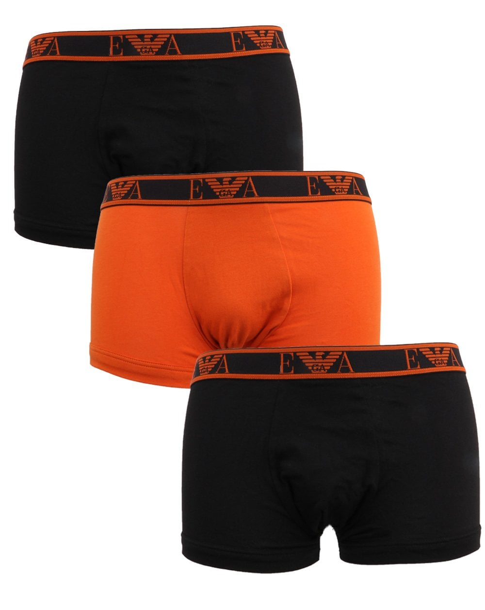 low price sale offer discounts new collection Emporio Armani 3 Pack Boxer Shorts Black/orange