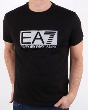 6739b1b99 EA7 Large Logo T Shirt in Khaki Green | 80s Casual Classics