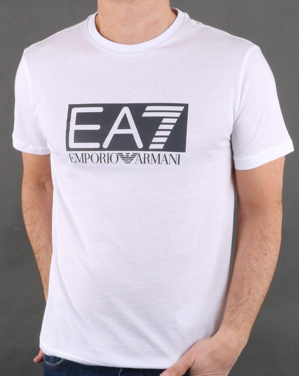 2cb568b1a Emporio Armani EA7 Emporio Armani EA7 Box Logo Tee White