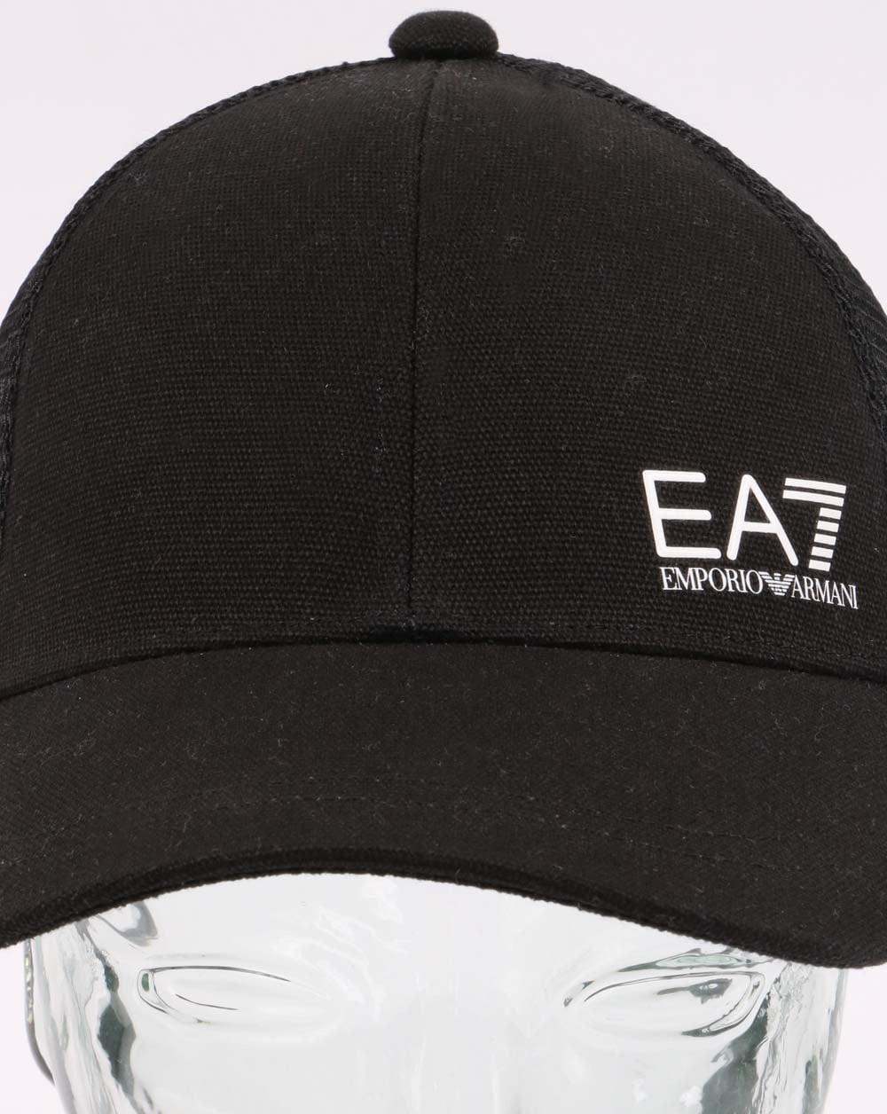 fff48c48 EA7 Core Logo Cap in Black | 80s Casual Classics