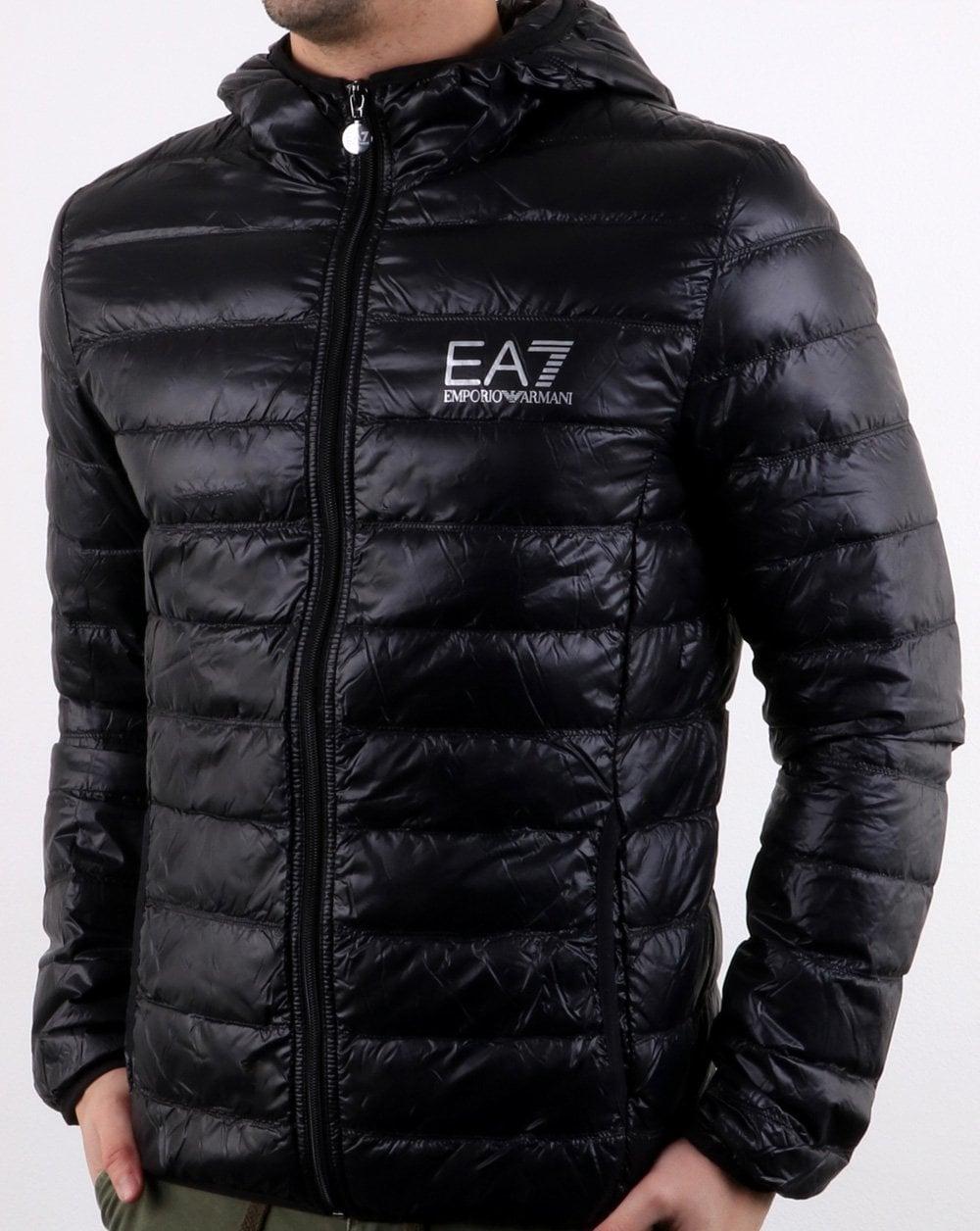 06e3dc458bc9 Emporio Armani EA7 Core Logo Down Hooded Jacket Black