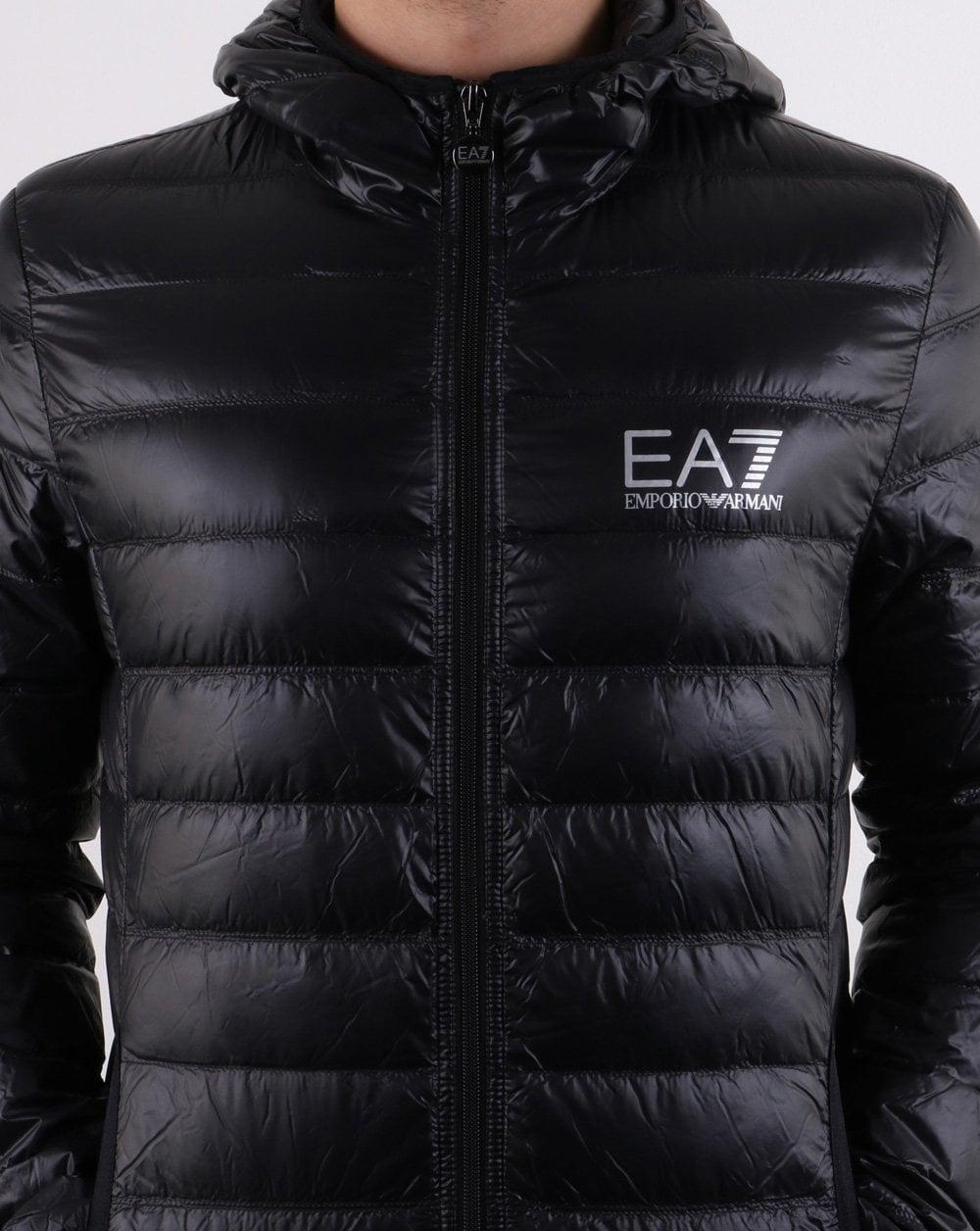 e5440c220 Emporio Armani EA7 Core Logo Down Hooded Jacket Black