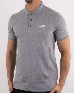 61fc9b42 Emporio Armani EA7 Core Logo Pique Polo Shirt Medium Grey Melange