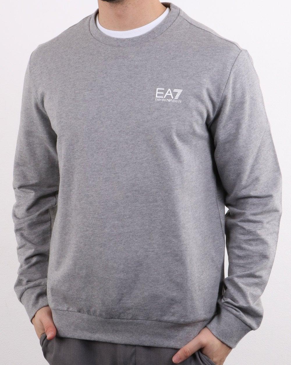 dd589249 Emporio Armani EA7 Emporio Armani EA7 Core Logo Sweatshirt Grey