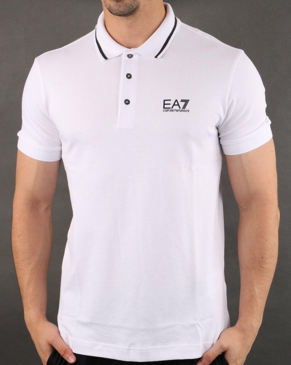 enjoy complimentary shipping new photos durable in use Emporio Armani EA7 Polo Shirt White