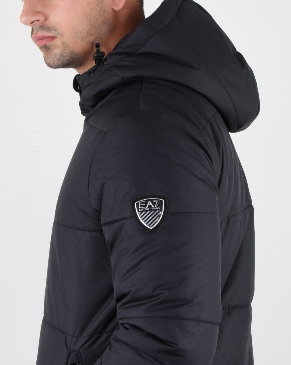 distinctive style best service hot sales Emporio Armani EA7 Puffer Jacket Charcoal