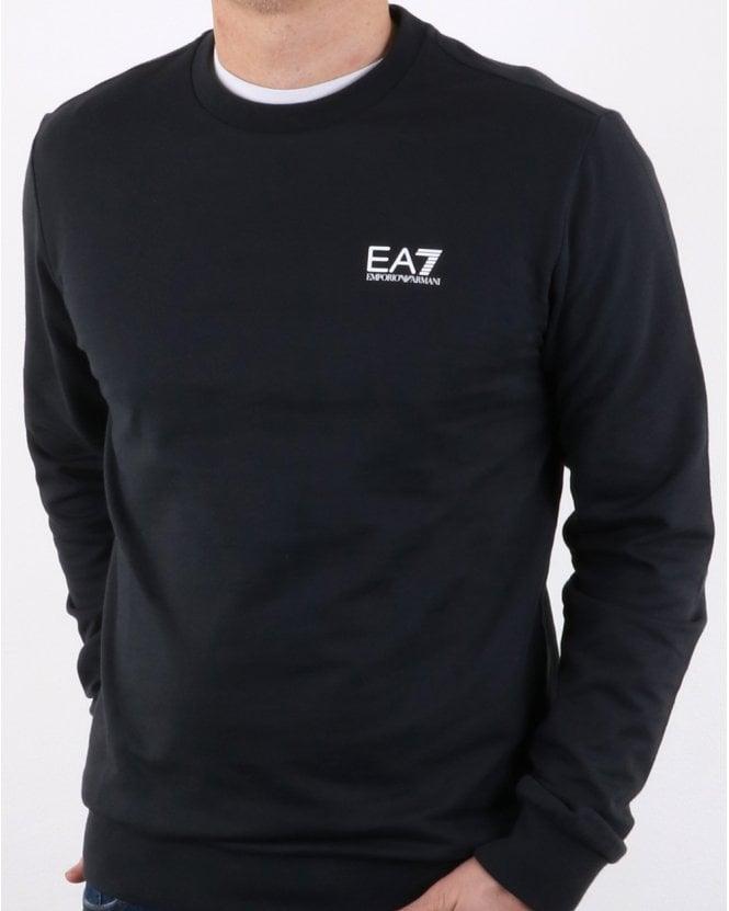 EA7 Sweatshirt Navy, Crew Sweat, Emporio Armani, Logo 17aa10d54eb6