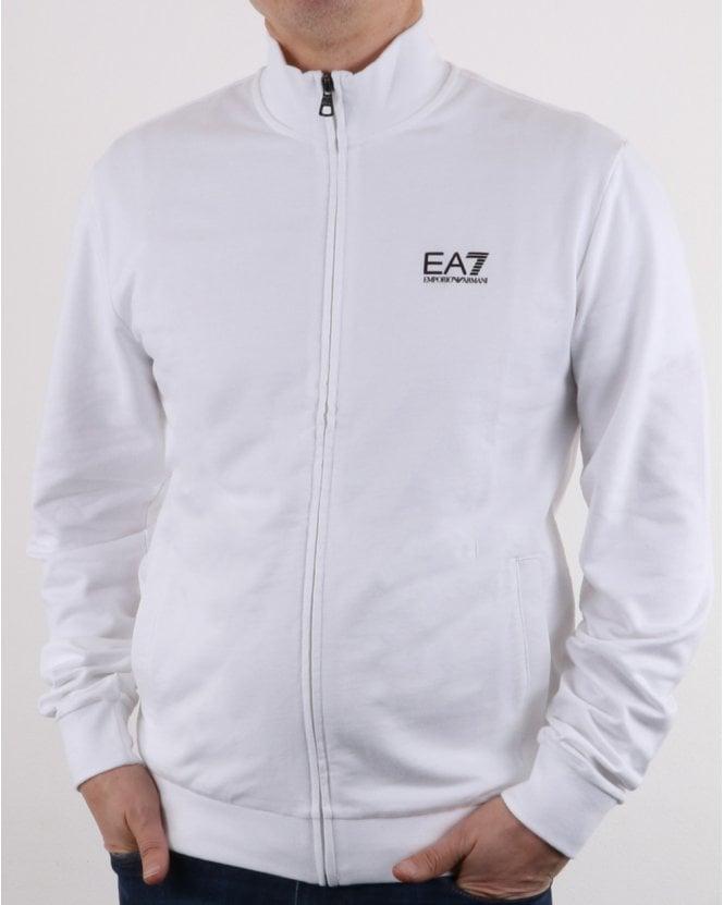 EA7 Track Top in White, Sweat, Emporio Armani, Giorgio f9dd5088b0a3
