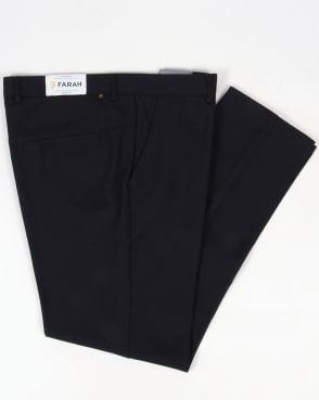 Farah 80s Classic Hopsack Trousers Navy