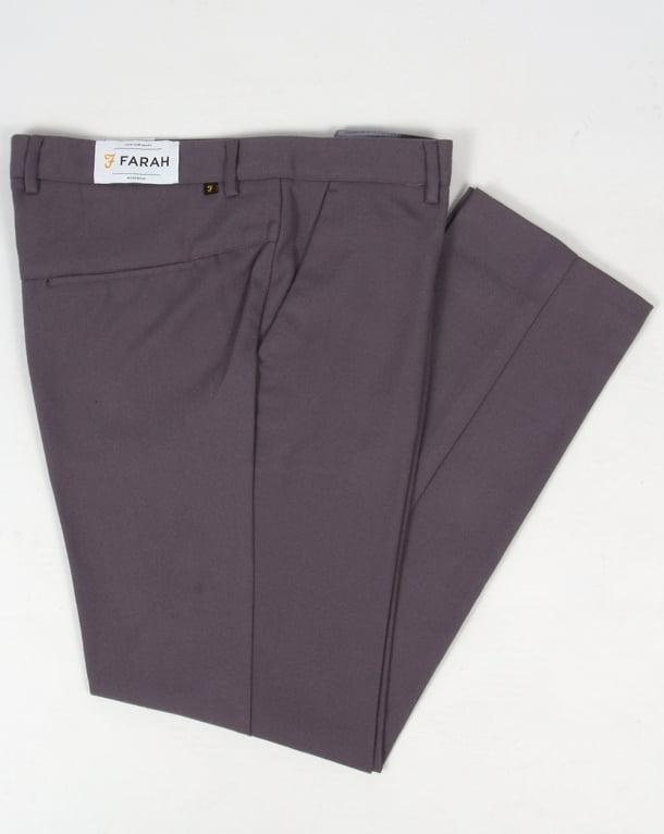 Farah 80s Classic Hopsack Trousers Slate Grey