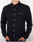 Farah Albyn Slim Fit Shirt Navy