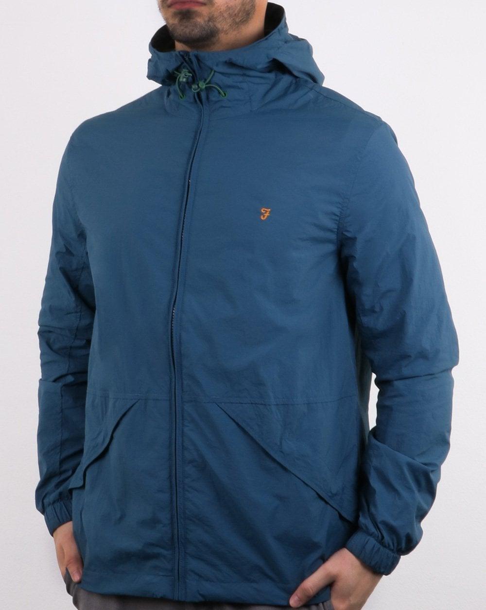 Farah Astoria Hooded Coat Blue Star