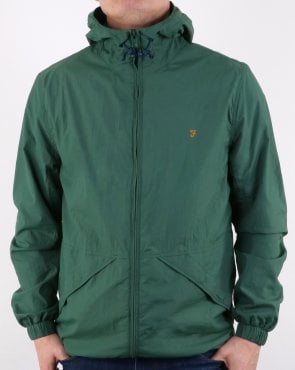 Farah Astoria Hooded Coat Lawn Green