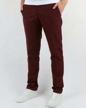 Farah Basset Hopsack Trousers Farah Red