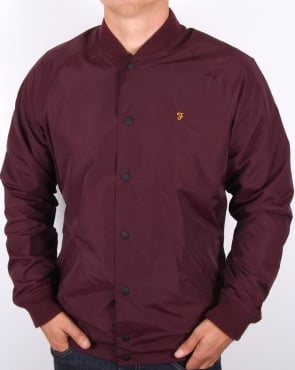 Farah Bellinger Bomber Jacket Bordeaux