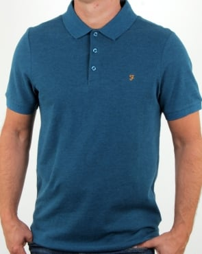 Farah Blaney Polo Shirt Atlantic Marl