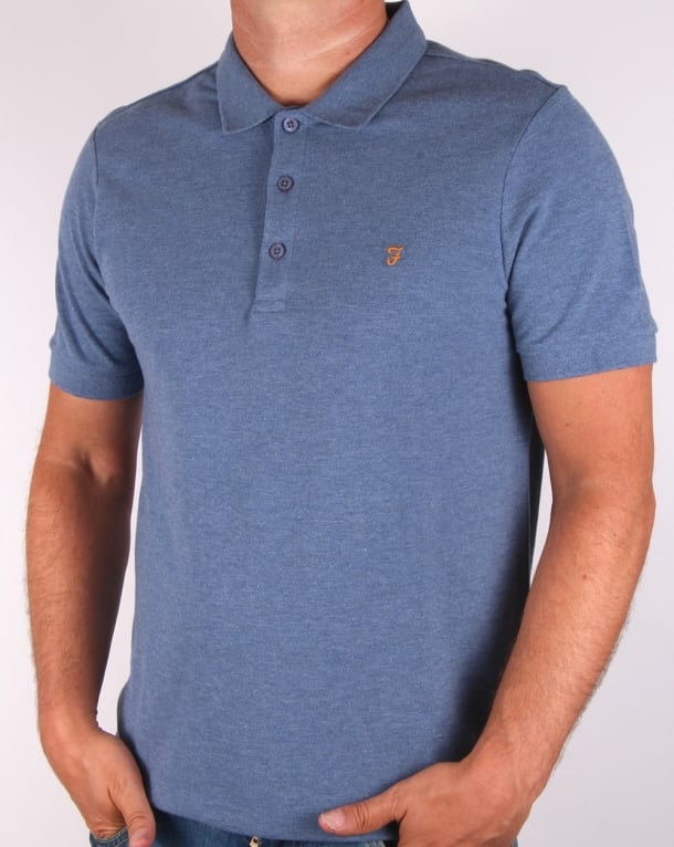 Farah Blaney Polo Shirt Dusky Blue