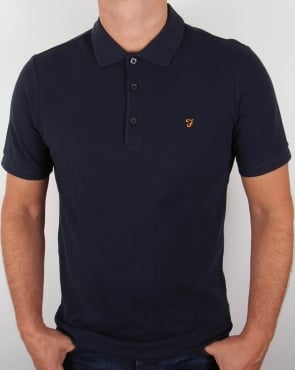 Farah Blaney Polo Shirt Navy Blue