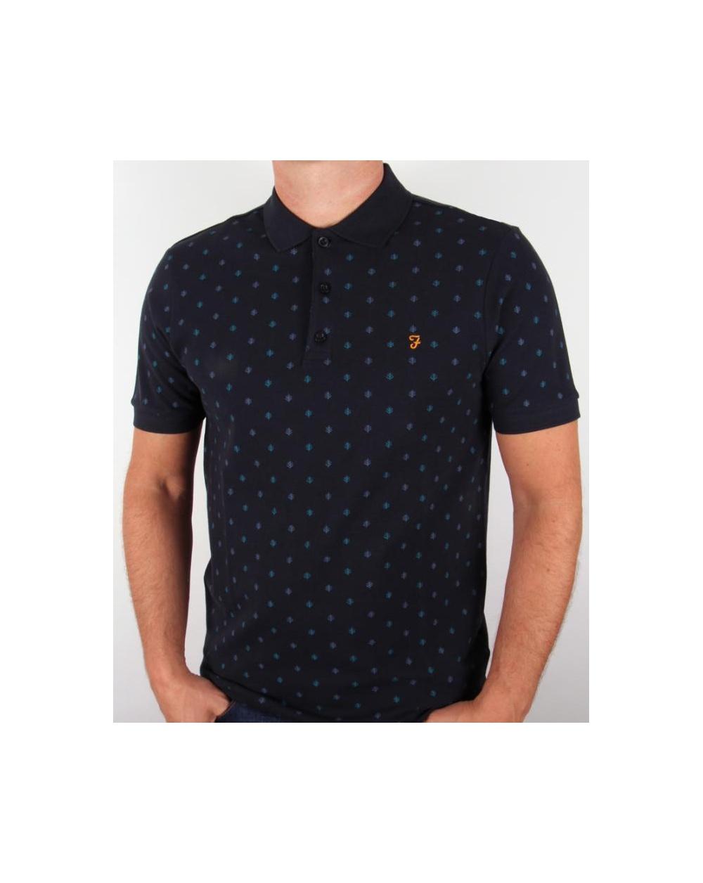 Farah Brady Polo Shirt Navy