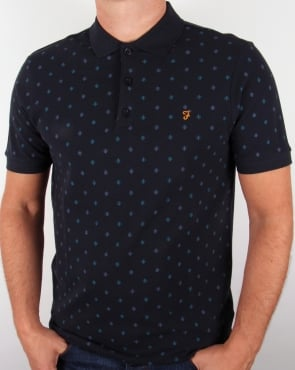 Farah Brady Polo Shirt Navy