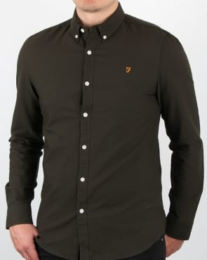 Farah Brewer Long Sleeve Shirt Evergreen
