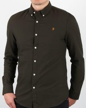 Farah Brewer Long Sleeve Shirt Evergreen