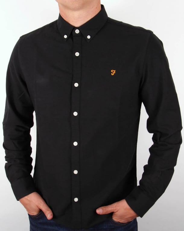 Farah Brewer Shirt Black